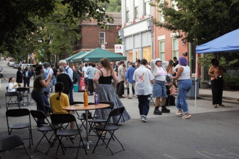 """""""Making home here"""" debuted on Thursday night with a free community block party, which included games of hopscotch, jump rope, a DJ and vegan food trucks."""