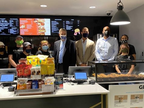 Pitt celebrated the grand openings of two Saxbys, a Philadelphia-based coffee shop that opened its locations for business on the ground floor of Hillman and the Cathedral of Learning this past Wednesday.