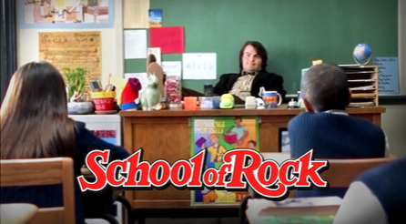 """You can enjoy Homecoming from home by indulging in a """"school spirit"""" movie, such as """"School of Rock."""""""