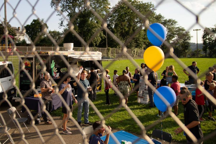 The Be a Good Neighbor program hosts block parties at the start of every academic year to foster connections between the University and its Oakland neighbors. The first block party of the year was held Tuesday evening at the Dan Marino Field in South Oakland.