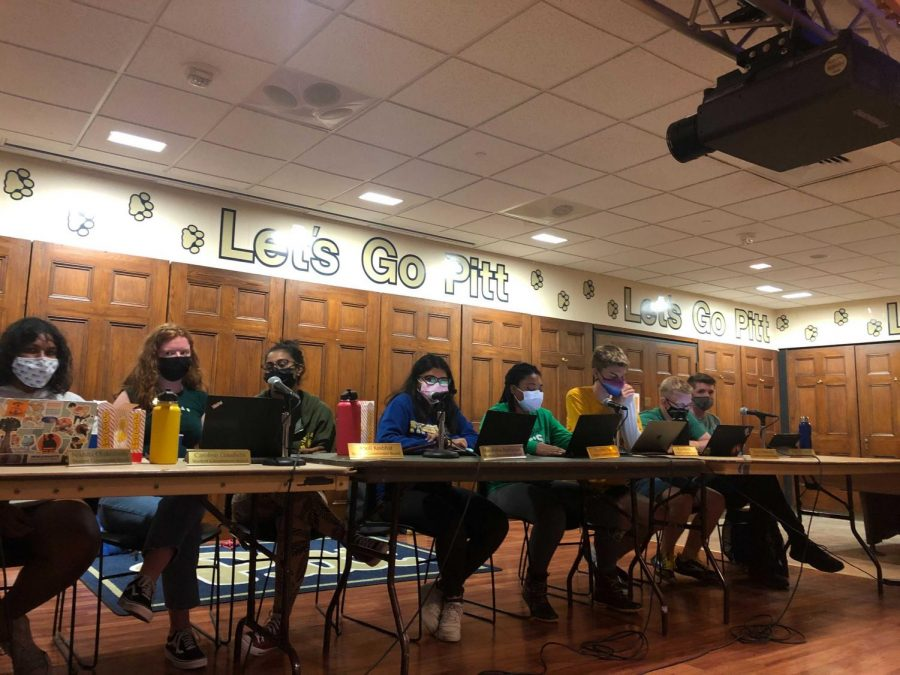 Student Government Board at its weekly meeting in Nordy's Place.