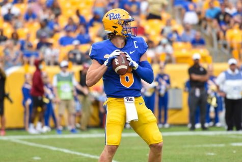 Quarterback Kenny Pickett in action at last Saturday's game against UMass.