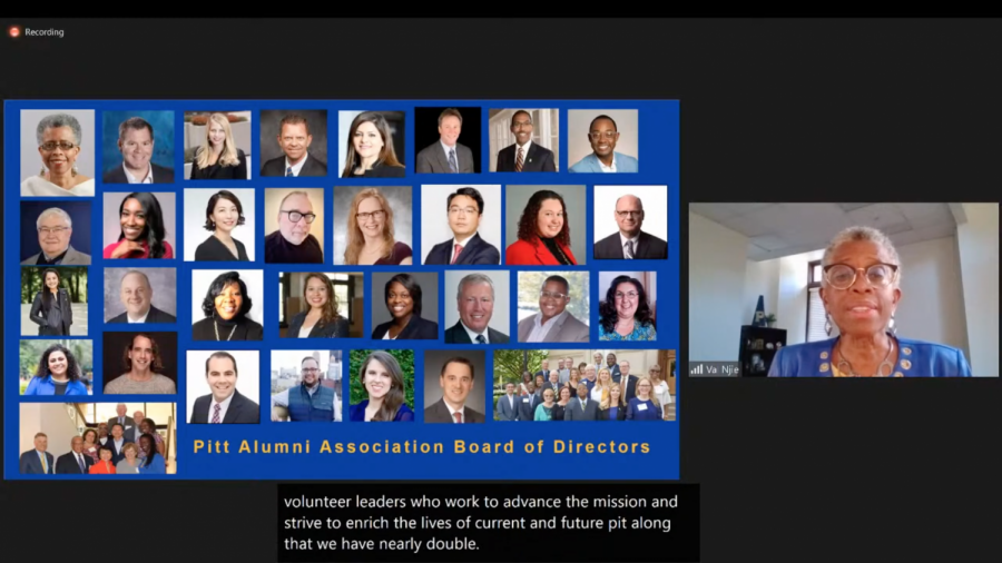 Alumni Association president updates Board of Trustees on past year's work