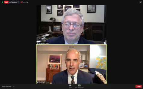 """Sen. Bob Casey gave a virtual lecture Monday titled """"Disability Policy: Beyond the Pandemic"""" about the effects of COVID-19 on the disabled community, monitored by Chancellor Emeritus Mark Nordenberg."""