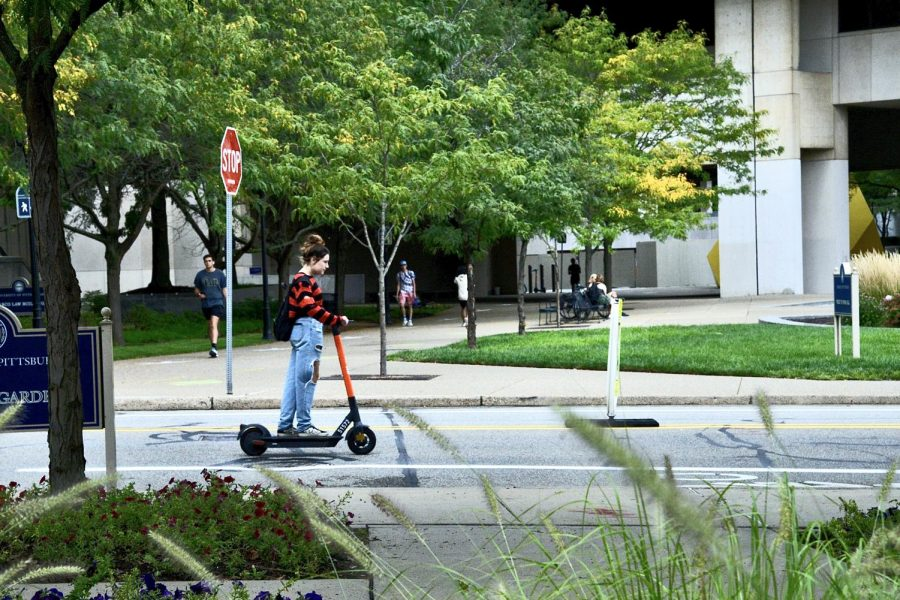 The Move PGH project partnered with Spin, a company that produces electronically charged vehicles, on July 9, making electric Spin scooters available throughout Pittsburgh.