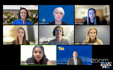 Pitt administrators spoke at a virtual town hall meeting on Wednesday, answering student questions and concerns about COVID-19 regulations for the fall semester and fully in-person classes, which start on Monday.