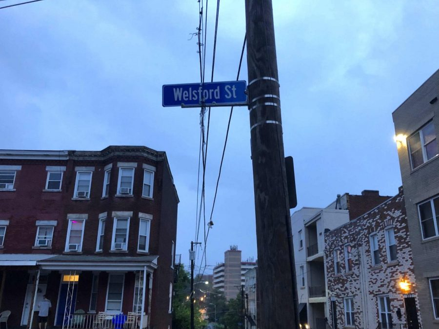 """""""Welsfest,"""" a block party that took place Saturday on Welsford Street in South Oakland, drew much larger crowds of Pitt students than expected."""