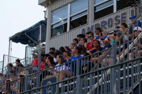 The crowd at the women's soccer vs. Towson game Sunday.
