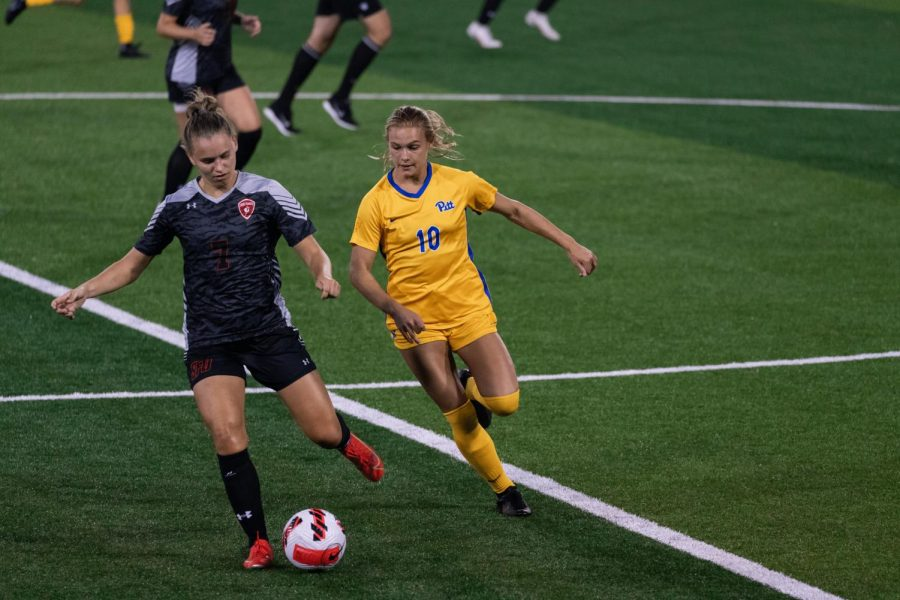 No. 20 Pitt women's soccer played the second game of its three-game home stand at Ambrose Urbanic Field on Thursday, defeating the St. Francis Red Flash 7-0.