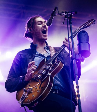 Hozier performs in Seattle in 2015.
