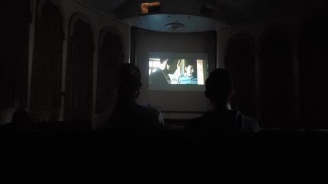Moviegoers watch Back to the Wharf (2020) at the Frick Fine Arts Auditorium on Saturday as a part of the Screenshot: Asia Film Festival jointly hosted by the Asian Studies Center and the Film and Media Studies program.