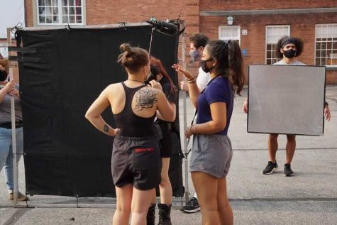 """Behind the scenes on the set of """"Thanks to Her,"""" an indie film produced in Pittsburgh."""