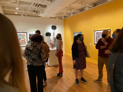 The University Art Gallery welcomed guests back in-person with live music and art from members of Womens of Vision, Inc. on Wednesday.