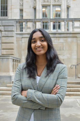 Shreya Babu, a junior sociology and administrative justice major, is the president and founder of Women in Law at Pitt.