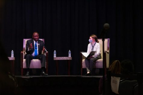 Ben Crump, a civil rights lawyer, spoke at a Pitt Program Council event Tuesday night at the William Pitt Union.