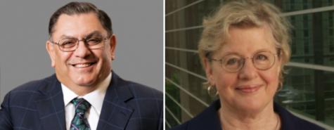 Katz Graduate Business School Dean Arjang Assad (left) and Dean of the Nursing School Jacqueline Dunbar-Jacob (right) recently announced their plans to retire.