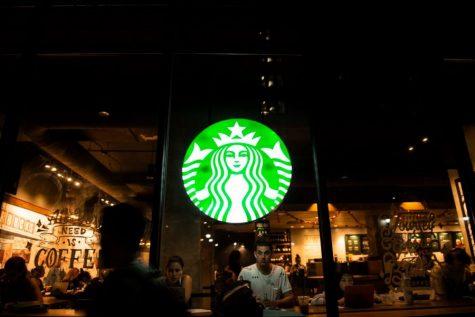 A Starbucks' storefront.