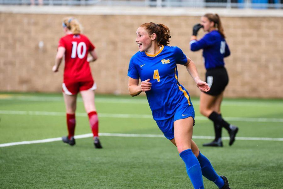 Ellie Coffield is a first-year midfielder on the Pitt women's soccer team.