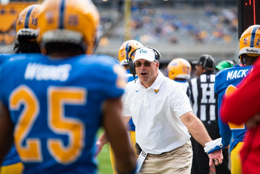 Pitt football head coach Pat Narduzzi spoke to the media on Monday to preview the Panthers upcoming matchup with Virginia Tech.